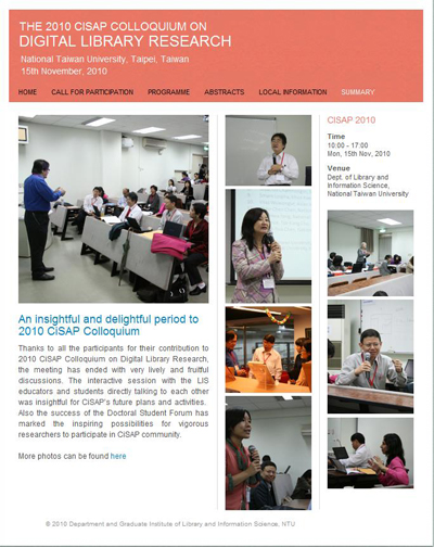2010 CiSAP Website